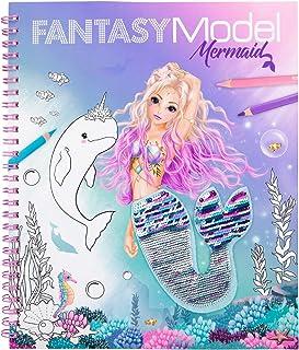 Depesche FANTASYModel 11153 - Libro para colorear con lentejuelas (20,5 x 24 x 1,5 cm), diseño de sirena