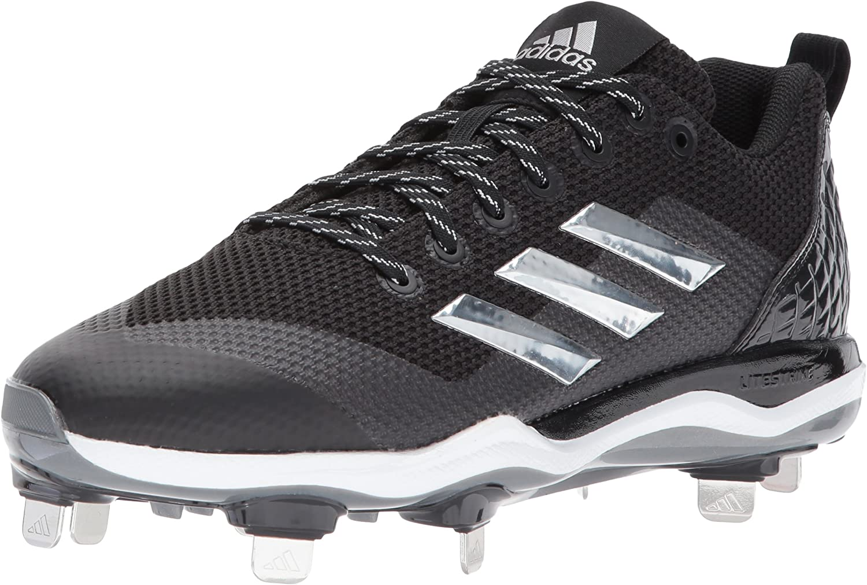 Adidas Men's Freak X Carbon Mid Baseball shoes, core Black, Silver met, FTWR White, 10 M US