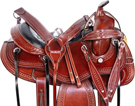 AceRugs Western Leather GAITED Endurance Western Horse Leather Trail Saddle 15 16 17 18 Light Weight Comfy