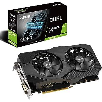 Asus GeForce GTX 1660 Super Overclocked 6GB Dual-Fan Evo Edition VR Ready HDMI DisplayPort DVI Graphics Card (DUAL-GTX1660S-O6G-EVO)