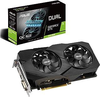 ASUS DUAL-GTX1660S-O6G-EVO GeForce GTX 1660 Super Overclocked 6GB Dual-fan EVO Edition VR Ready HDMI DisplayPort DVI Graph...