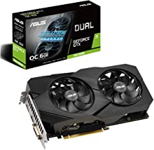 Asus GeForce GTX 1660 Super Overclocked 6GB Dual-Fan Evo Edition VR Ready HDMI DisplayPort DVI Graphics Card (DUAL-GTX1660...
