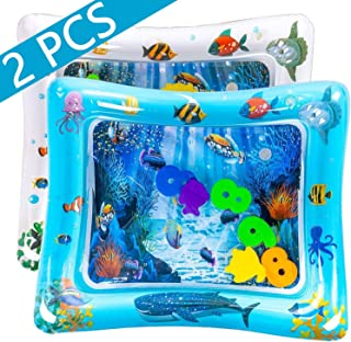 luck sea Tummy Time Inflatable Water Play Mat Playmat Sensory Activity Toy for Infant Toddlers Baby Girl/Boy 3 to 18 Months Old