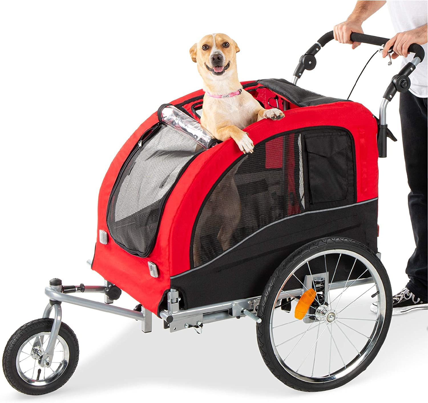 Best Choice Products 2-in-1 Pet Jacksonville Mall Stroller w Trailer and latest Hitc Bike