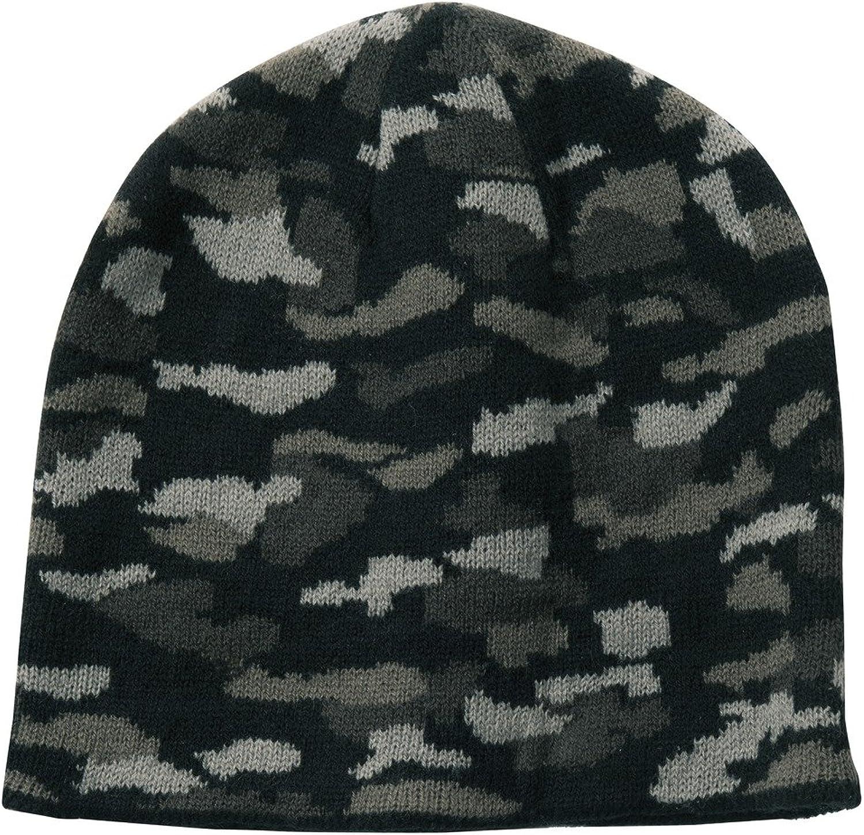 Pink Camo Womens Ladies Girls Winter Knit Hat Beanie Camo Cap CP91C NEW