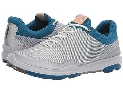 ECCO Golf Biom Hybrid 3 GTX (White/Olympian Blue) Men