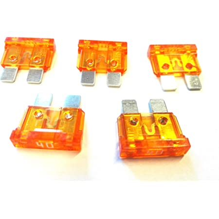10 X Flachstecksicherung Ato Sicherung 40a 32v Orange Gewerbe Industrie Wissenschaft