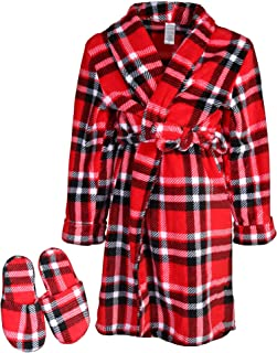 Big Boys' Green Camo Robe with Slippers