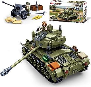 Sluban WWII-M261 Pershing Medium Tank Building Blocks Toy, 2 in 1 Educational Learning Construction Toys Set for Kids Boys...