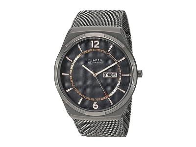 Skagen Melbye Three-Hand Watch (SKW6575 Gunmetal Stainless Steel Mesh) Analog Watches