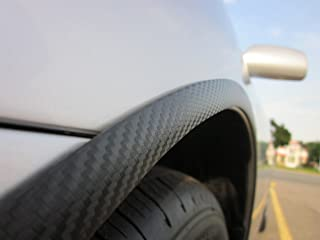 TRUE LINE Automotive Black Carbon Fiber Wheel Well Fender Molding Trim Kit 3/4'' Wide