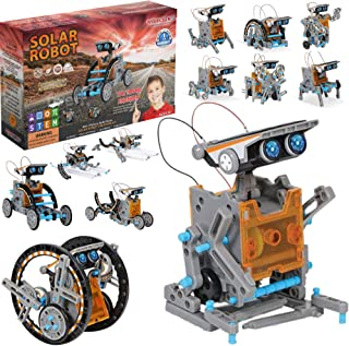 WISHKY TOYS STEM Robot Building Kit for Kids, science...