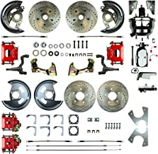 The Right Stuff AFXDC41CZX Power Disc Conversion (4 Wheel Chrome Booster Red Show N Go)