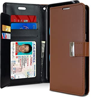 Goospery Rich Wallet for Samsung Galaxy S8 Case (2017) Extra Card Slots Leather Flip Cover (Brown) S8-RIC-BRN