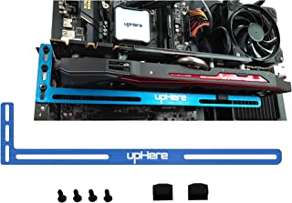 upHere Graphics Card GPU Brace Support Video Card Sag Holder/Holster Bracket, Anodized Aerospace Aluminum, Single or Dual Slot Cards- Blue,GL02