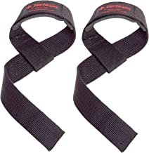 Harbinger Padded Cotton Lifting Straps with NeoTek Cushioned Wrist (Pair)