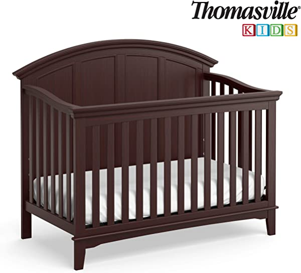 Thomasville Kids Shadow Creek 4 In 1 Convertible Crib Vintage Espresso Converts To Toddler Bed Daybed Or Full Size Bed 3 Position Adjustable Mattress Support Base