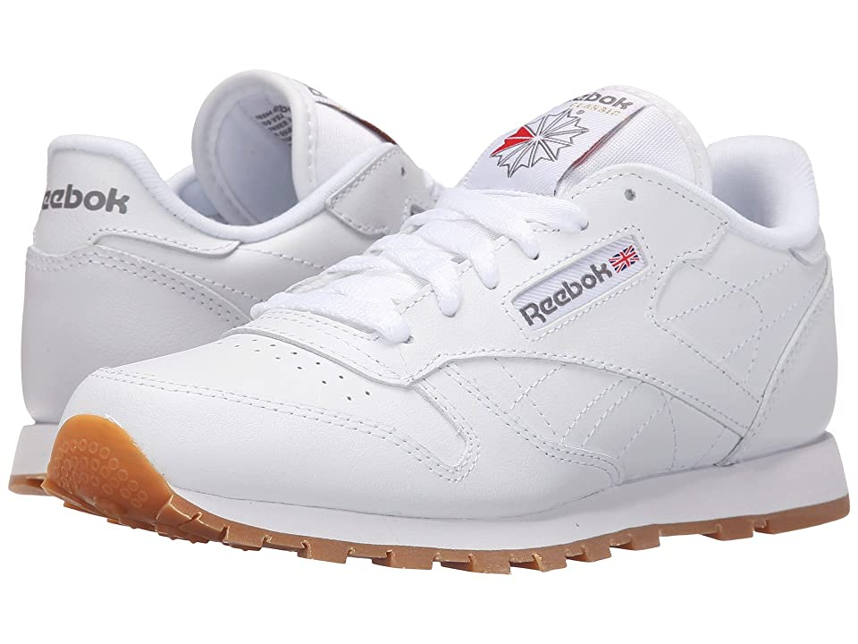 Reebok Kids Classic Leather (Big Kid) (White/Gum) Kids Shoes