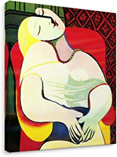 Niwo ART (TM) - The Dream,by Pablo Picasso - Oil Painting Reproduction - Giclee Wall Art for Home Decor,Office, Gallery Wrapped, Stretched, Framed Ready to Hang (24