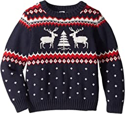 Reindeer Crew Neck Sweater (Toddler/Little Kids/Big Kids)
