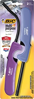 BIC Multi-Purpose Candle Edition Lighter & Flex Wand Lighter, 2-Pack (2 Pack)