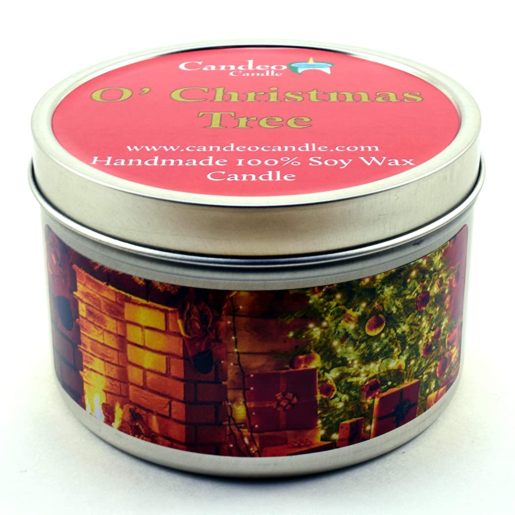 聴衆樹木じゃない(180ml) - O' Christmas Tree, Super Scented Soy Candle Tin (180ml)