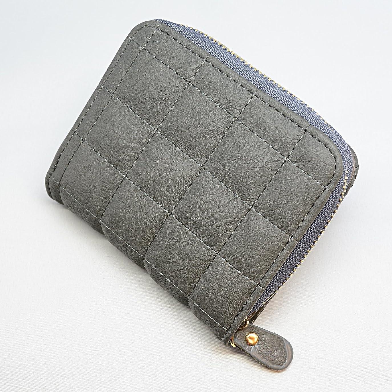 テロオピエート審判お洒落なステッチデザインの2つ折り財布 ミニ財布 ラウンドファスナー ノーブランド品