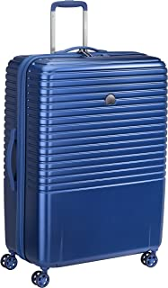 Delsey Paris Caumartin Plus 76 cm 4 Double Wheels Trolley Case Suitcase (Hardside) Blue (00207882102)
