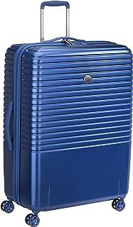 DELSEY PARIS - CAUMARTIN PLUS - Valise rigide avec zip SECURITECH2 et serrure TSA intégrée - 76cm, 107L, Bleu