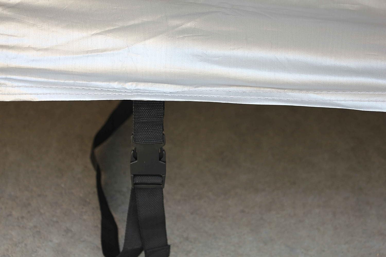 450 * 180 * 168CM Tuqiang Telo Copriauto per K ia Sportage Impermeabile Pieghevole Anti UV Copriauto con Strisce Fluorescenti Film di Alluminio