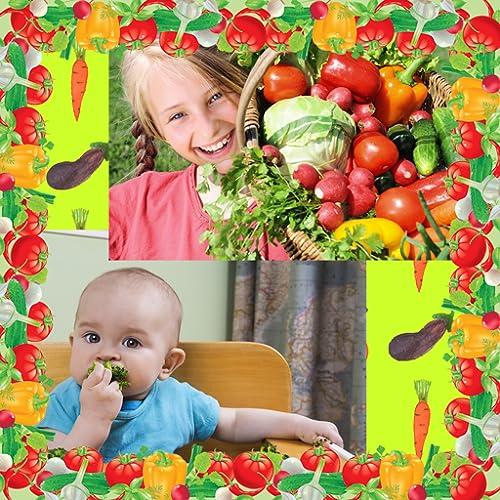 Colagem de fotografia de vegetais