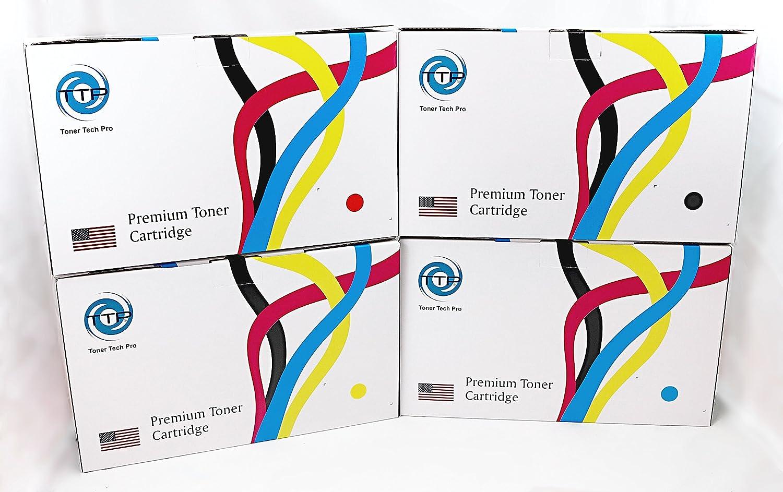 TTP Brand Premium New Compatible Set of 4 Colors for HP Laserjet Enterprise 600 Color M651 M651dn M651n M651xh (HP 654A). Replaces Part # CF330X, CF331A, CF332A and CF333A