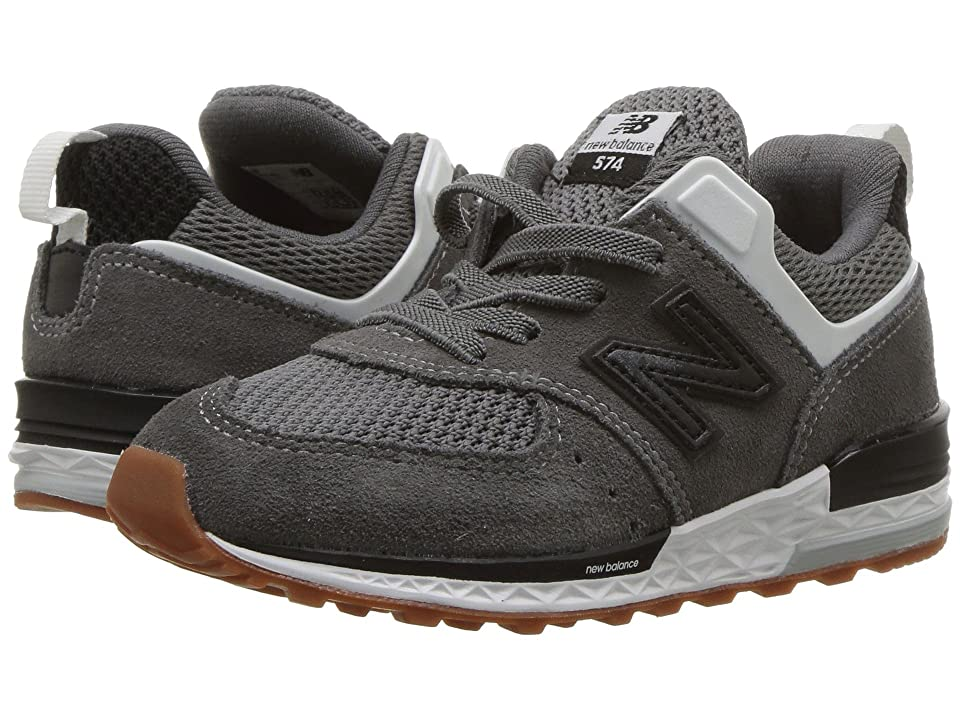 New Balance Kids IH574v2 (Infant/Toddler) (Castlerock/Black) Boys Shoes