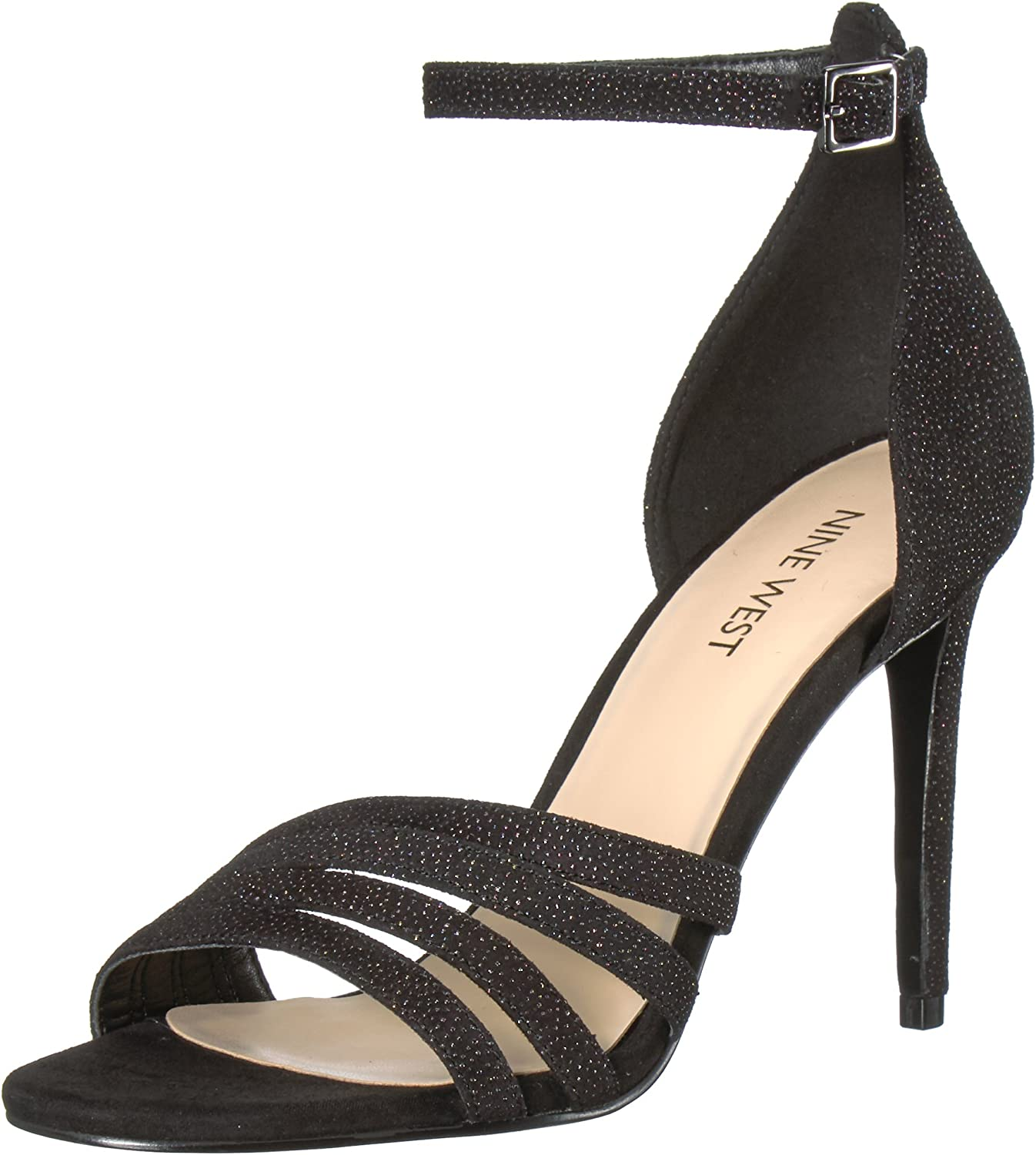 Nine West Womens Jacaran Leather Heeled Sandal