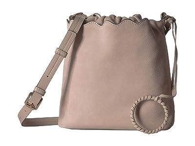 Vince Camuto Wavy Bucket (Almond Beige) Handbags