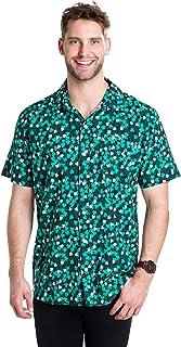 Men's St. Patrick's Day Button Down Shirt - St. Paddy's Hawaiian Shirt for Guys