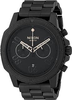 Nixon Men's A549957-00 Ranger Chrono Analog Display Quartz Black Watch
