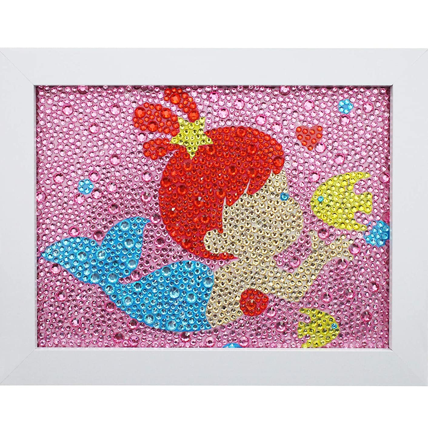 Bestlus DIY Kids Diamond Painting by Number Kits Arts and Crafts Kits for Children (Mermaid, 15x20cm)