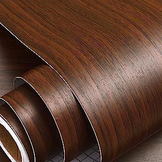 Wolpin Wall Stickers Furniture Wallpaper Wood (60 x 300 cm) Door, DIY Vinyl, Almirah, Shelf Liner, Table Top, Wardrobe, Ki...