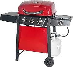 RevoAce 3-Burner LP Gas Grill with Side Burner, Red Sedona