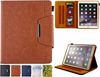 iPad Mini Case, iPad Mini 1/2/3/4 Case - JZCreater Folio Stand Multi Angle Viewing Wallet Case Cover with Auto Sleep/Wake for Apple iPad Mini 1/2/3/4, Brown