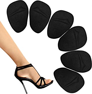 Metatarsal Pads - Ball of Foot Pads - Ball of Foot Cushions - Non Slip High Heel Inserts, High Heel Pads for Shoe Comfort - Foot Pain Relief - Soft Forefoot Pads with Self Stick Adhesive -Black
