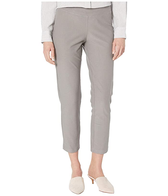 Eileen Fisher  Petite Washable Stretch Crepe Slim Ankle Pants (Smoke) Womens Casual Pants