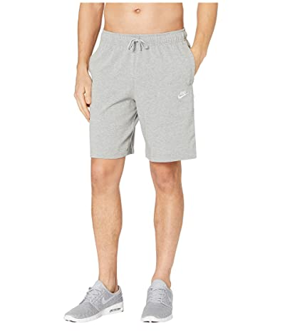Nike NSW Club Shorts Jersey (Dark Grey Heather/White) Men