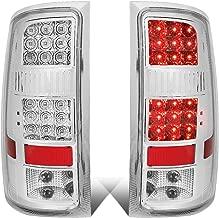 DNA Motoring TL-GMCSIE07-LED-CH-CL Full LED Tail Light (Chrome/Clear For 07-14 GMC Sierra)