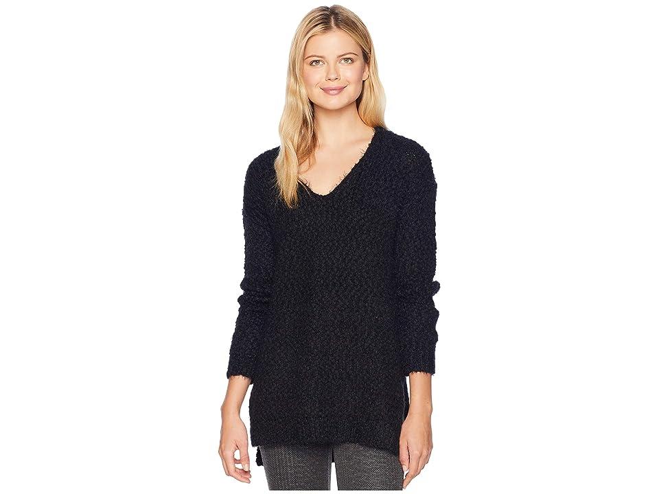 Tribal Long Sleeve V-Neck Sweater (Black) Women