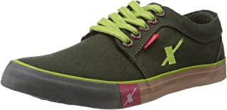 Sparx Men's Olive Green Canvas Sneakers