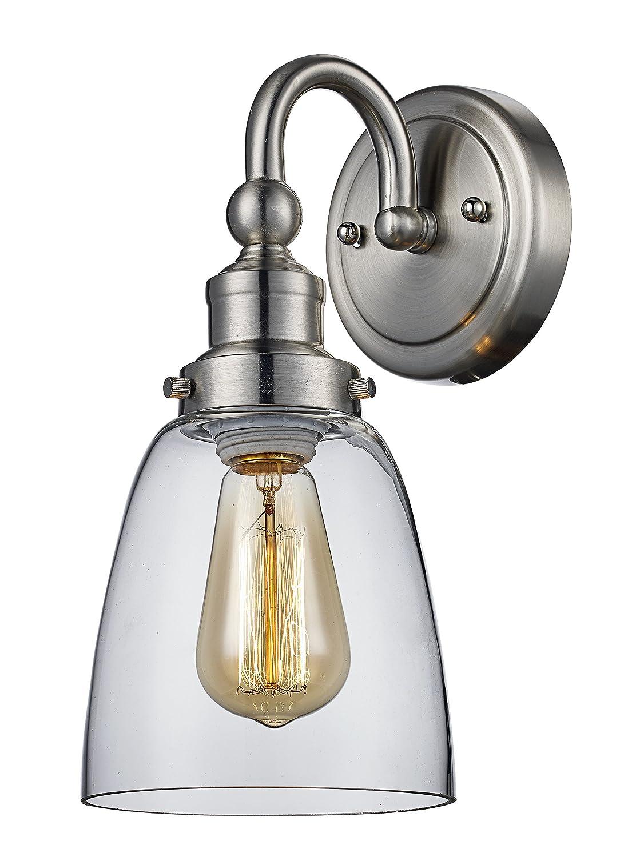 Trans Globe照明70831?BN Jenniferインドアつや消しニッケル工業壁取り付け用燭台、5.5?