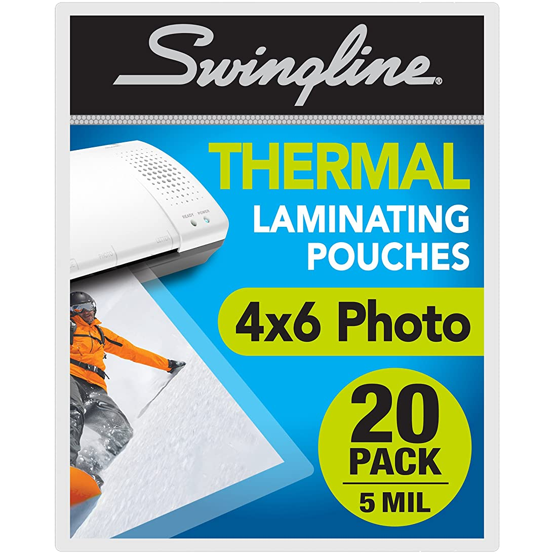 Swingline Laminating Sheets, Thermal Laminating Pouches Letter Size, 3mil, 200 Pack (3202062)