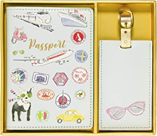 Beth Briggs Passport Cover Holder And Luggage Tag Set In Gift Box